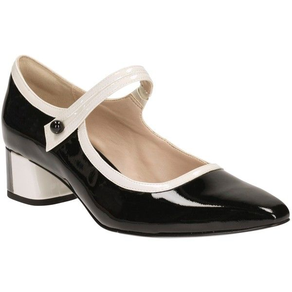 Gold And Black Print Court Shoes In Clarks
