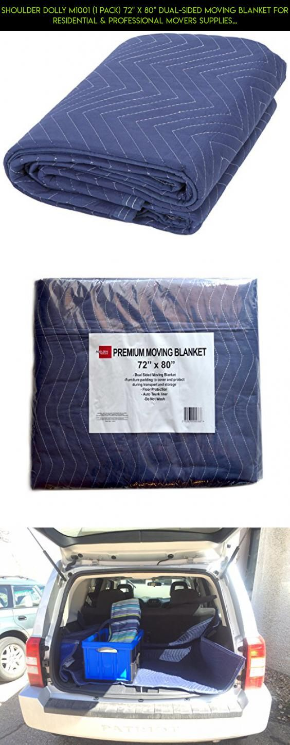 "Shoulder Dolly M1001 (1 Pack) 72"" x 80"" Dual-Sided Moving Blanket for Residential & Professional Movers Supplies, Blue #parts #drone #gadgets #dresser #tech #a #technology #products #racing #storage #fpv #plans #kit #shopping #camera"