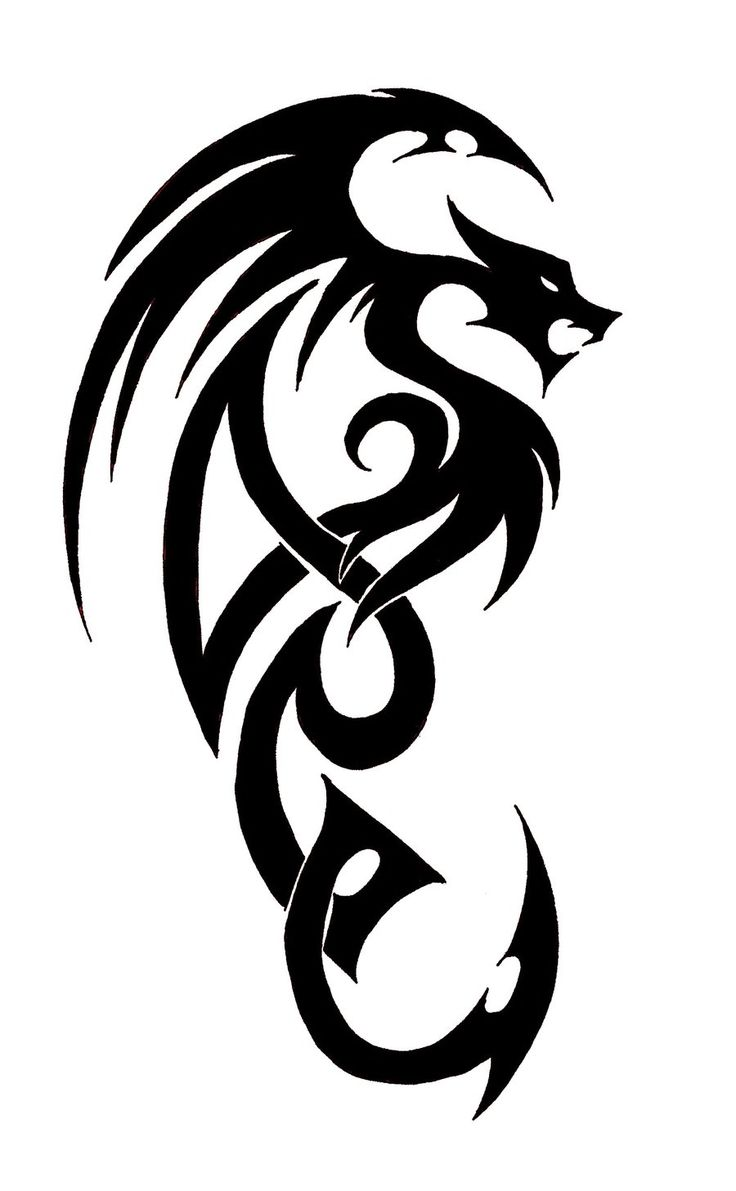 18 best simple drawing of dragon tattoo images on pinterest tattoo ideas tribal dragon. Black Bedroom Furniture Sets. Home Design Ideas
