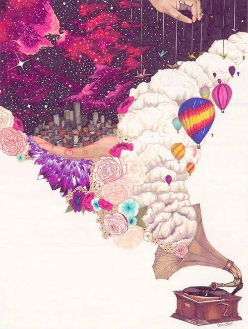 but from the mind. Taking yourself away from yourself and reality. Making your personal space kingdoms wide