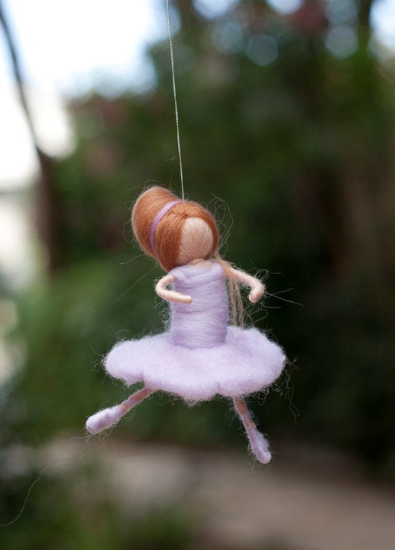 Ballerina Needle Felted Dancing Ballerina Pastel Colors by tdvash, $17.00