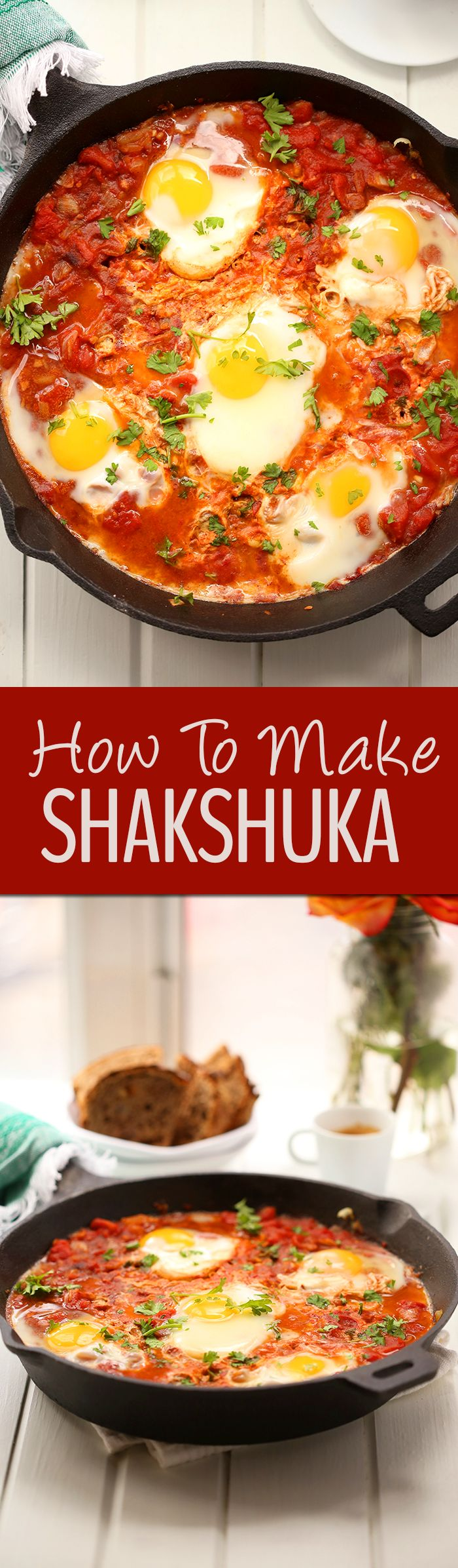 Have you ever wondered how to make shakshuka? This wonderful Middle Eastern poached egg dish made in a saucy tomato broth is the next best addition to your weekend brunch.