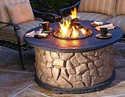 Fire pit.  I like the table top.