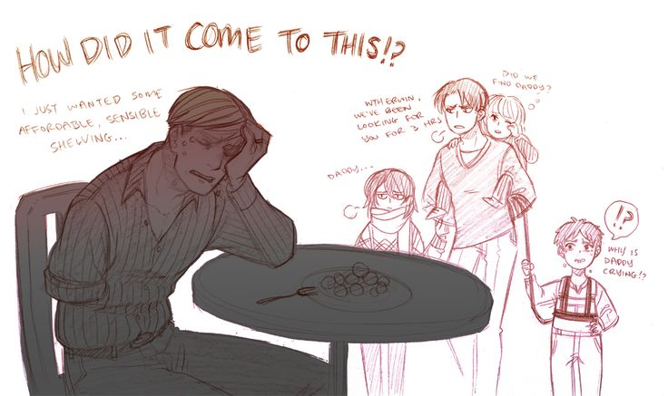 Eruri. Family bonding at Ikea lol  (Imagine your otp in an Ikea u v u  They've separated and have no cell reception. They will never find each other again. This is truly the darkest timeline.)