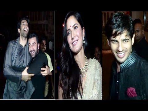 Ranbir, Katrina, Sidharth, Shraddha at Anil Kapoor's house for Diwali party 2016.