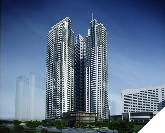 3 Tower Residential Building- Makati City Philippines. Park Terraces designed by Aidea Philippines Incorporated
