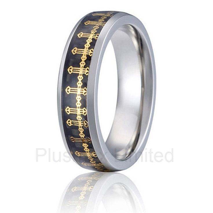 Anel de Casamento new design titanium jewelry unending love carbon fiber inlay wedding band fashion rings