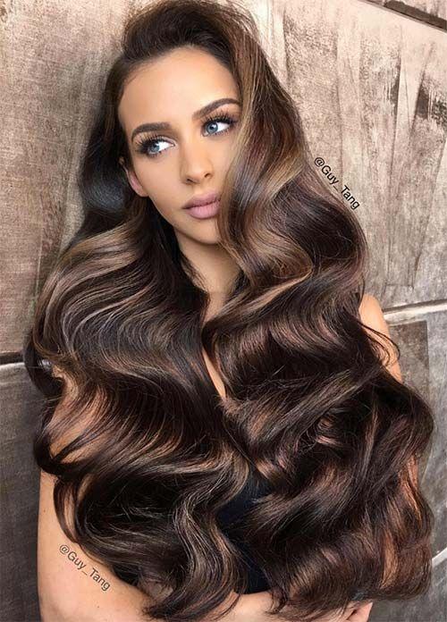 Dark Hair Colors: Deep Brown Hair Colors #hairstyles #darkhair #brownhair