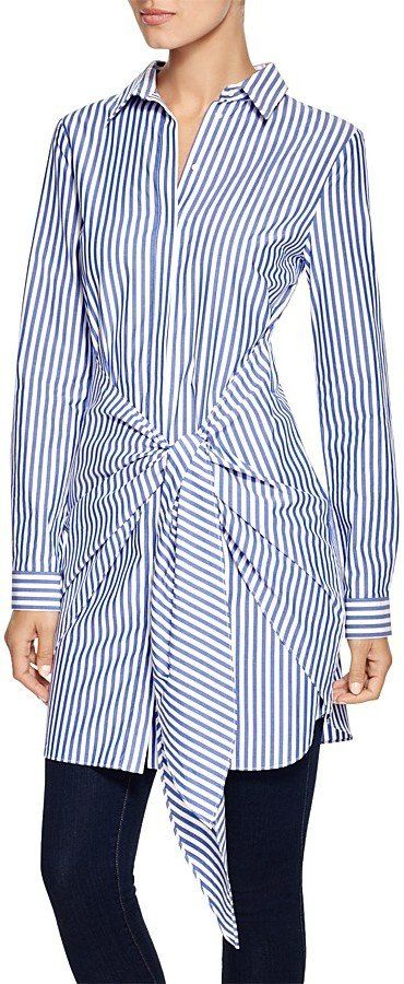 N. Nicholas Shirt Dress with Tie (£233)