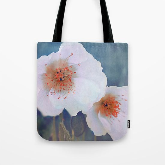 White poppies(2) Tote Bag