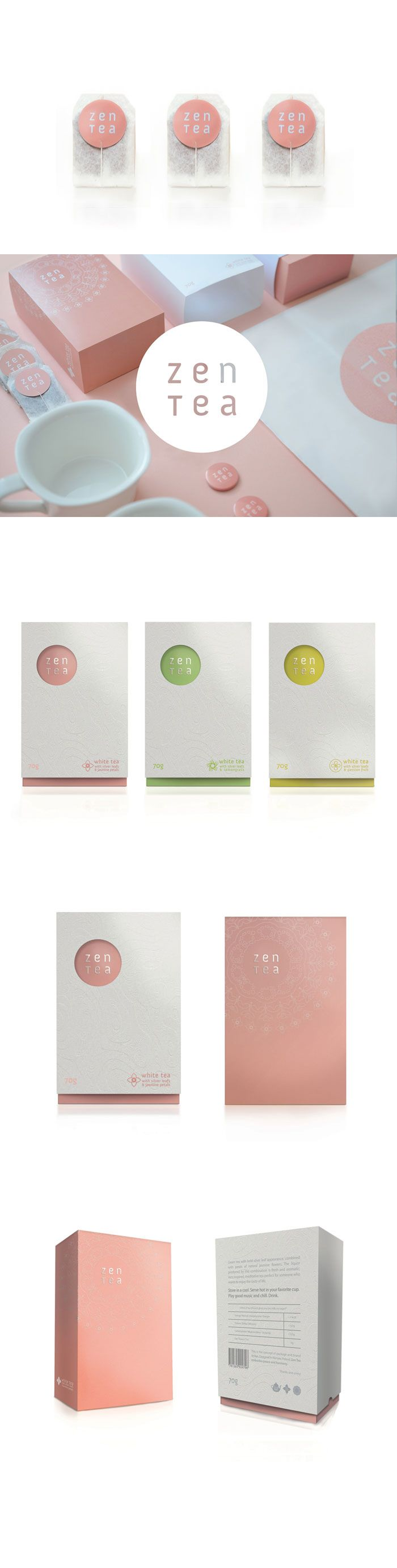 Soft and lovely zen #tea #packaging PD
