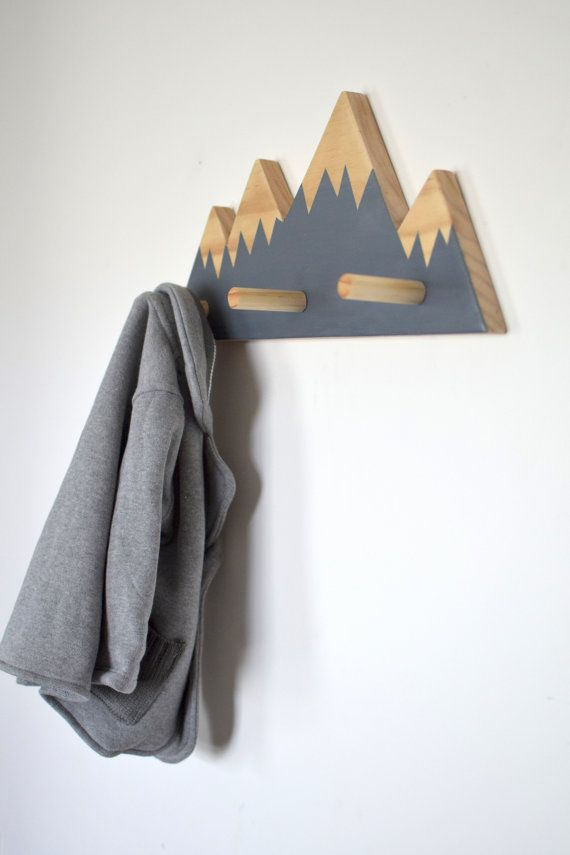mountain peak wall hooks woodland nursery woodland nursery decor wall hooks for kids - Stylish Wall Hooks