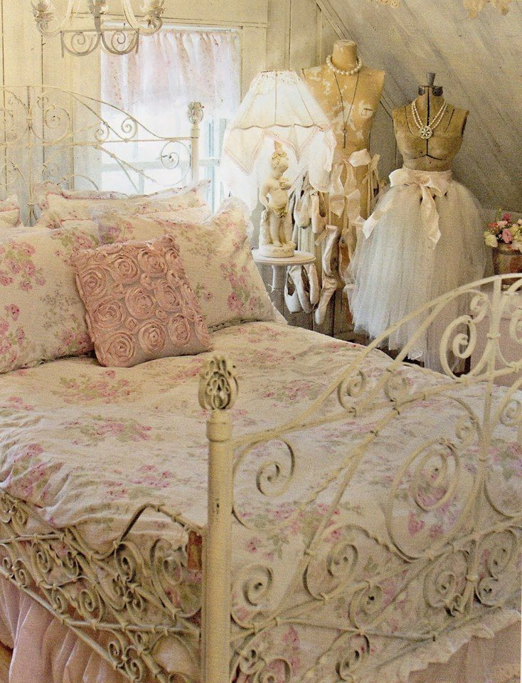 I Love the Theme of this Dreamy Shabby Chic Bedroom! See More at thefrenchinspiredroom.com