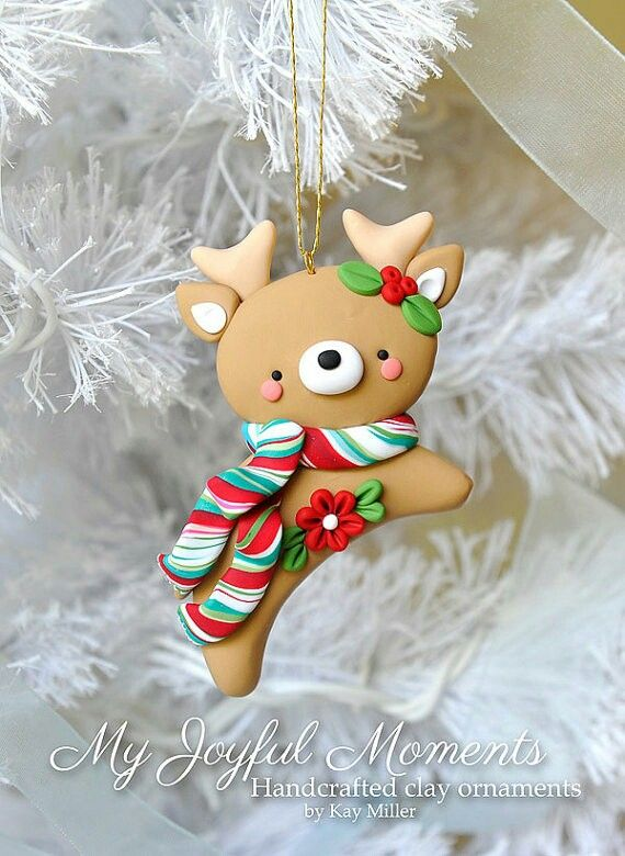 Christmas deer ornament on We Heart It