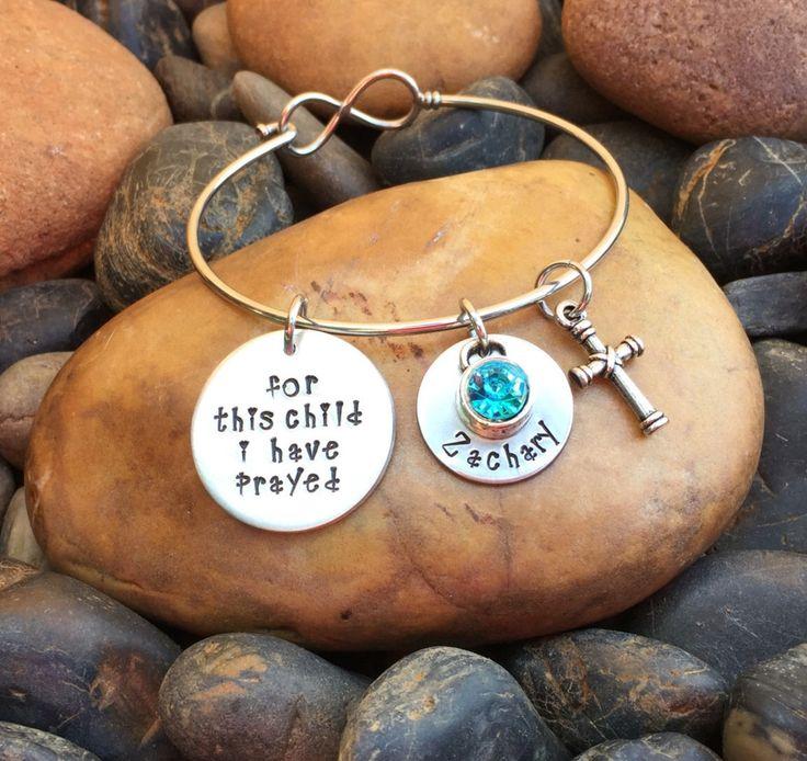 For This Child I Have Prayed Bracelet | Mother's Day Gift | Mother's Day Jewelry | Mother's Day Bracelet | 1 Samuel 1:27 | Gift For New Mom by SecretHillStudio on Etsy https://www.etsy.com/listing/267121032/for-this-child-i-have-prayed-bracelet