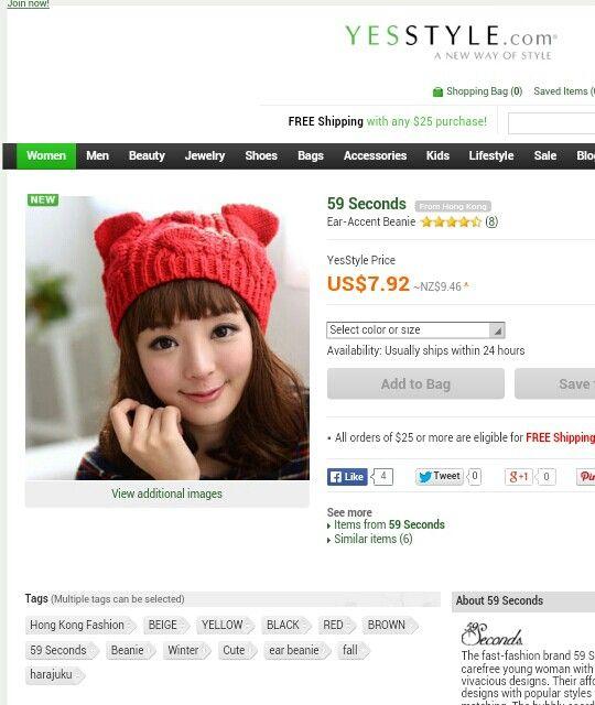 Cute beanie korean fashion www.yesstyle.com