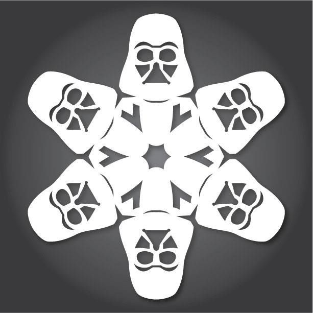 Intergalactic Christmas Crafts Darth Vader Snowflake