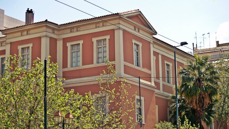 Kostis Palamas building is the university's cultural center. (Walking Athens, Route 01 - University Str.)