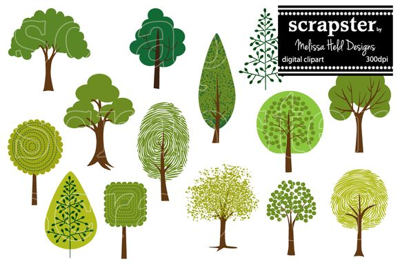 Tree Clipart 2 by scrapster on Creative Market