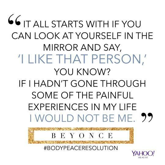 Body-peace inspiration from Beyonce.
