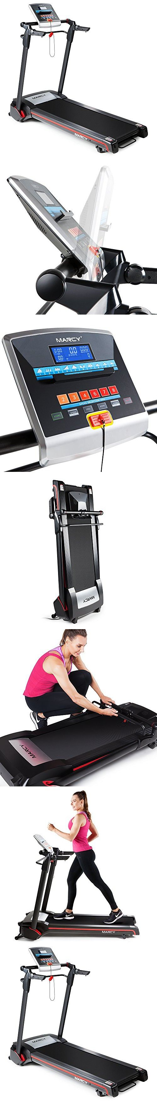 Marcy Easy Folding Motorized Treadmill / Pre Assembled Electric Running Machine JX-651BW Easy Folding Motorized Treadmill / Pre Assembled Electric Running Machine