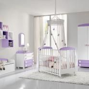 camere bambini baby B104 Viola Lineare