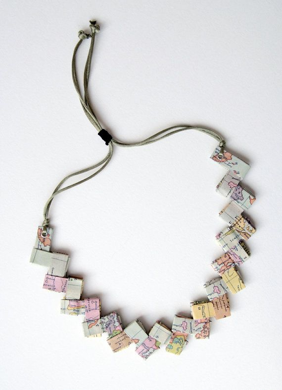 ancient Greece origami paper necklace I called this series of necklaces, made by folding the paper and fitting the various elements together, bicycle
