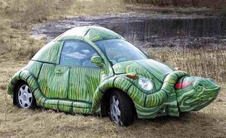 24 voitures inhabituelles et d jant es qui ne passent pas inaper ues cr ations inventions - Voiture tortue ...
