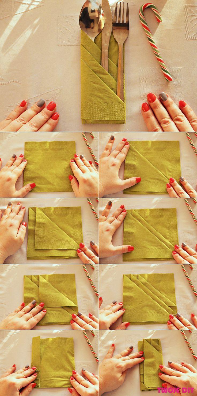 Reusable cloth napkin folding tutorial