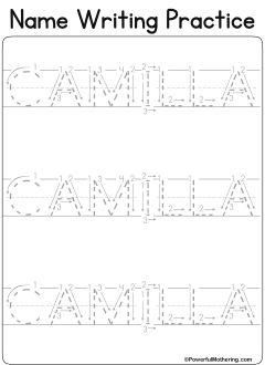 Custom Printables - My Name