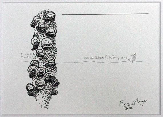 WhereFishSing.com Fiona Morgan, pen drawing 'Meditative Study' #WhereFishSing BANKSIA Matted Nature illustration ORIGINAL Botanical Drawing, Australian art, Black & White, pen & ink, zen, mindfulness