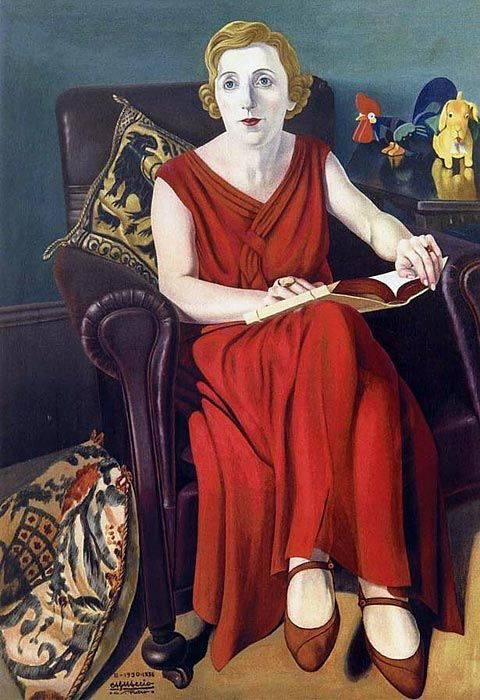 1930 Cagnaccio di San Pietro, Portrait of Signora Vighi, It's About Time: The somber, even angry, Women of the Depressed 1930s