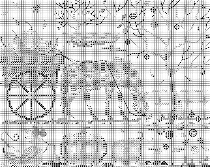 """""""Волшебная лошадка"""" - схема вышивки. Обсуждение на LiveInternet - Российский Сервис Онлайн-Дневников"""