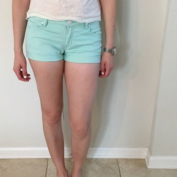 Mint colored bcbgeneration shorts Mint bcbg generation shorts. Worn but great condition. They are durable and will last a while. BCBGeneration Shorts