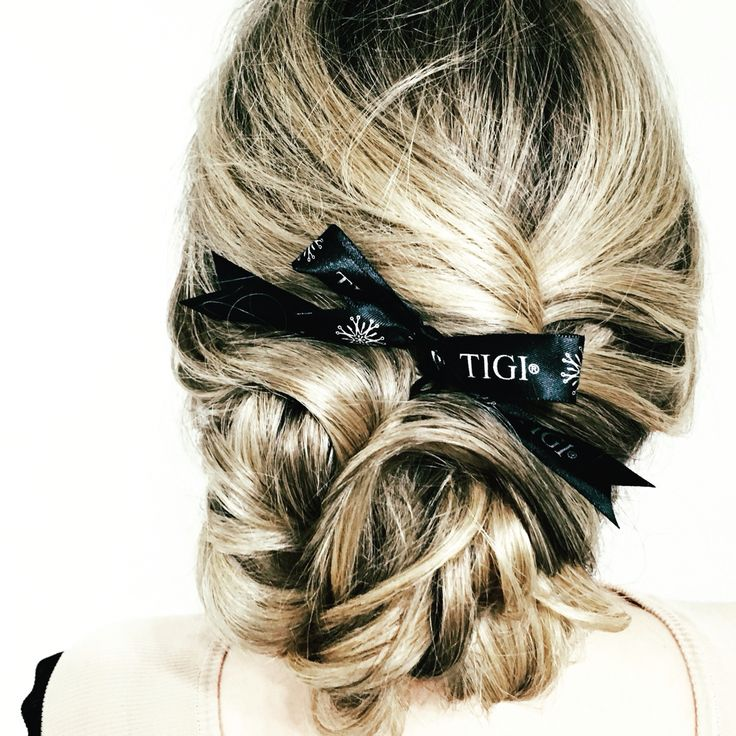 Long hairstyles by TIGI . TIGI hair. Hair 2016. Небрежный пучок.