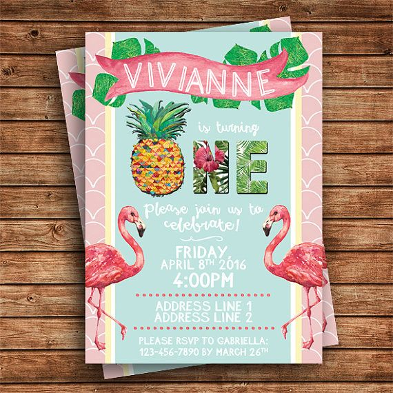 Digital file Luau Birthday invitation by SugarPixelsDesign on Etsy