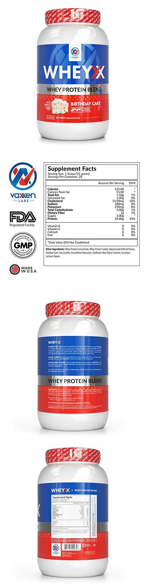 Vaxxen Labs WheyXX Whey Protein Powder Blend Birthday Cake 2LB