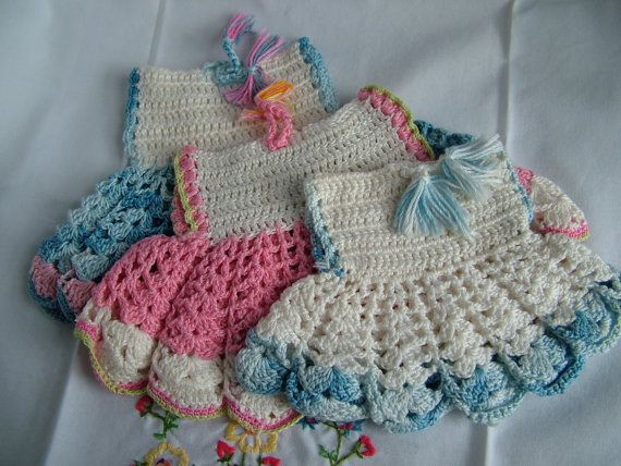 Crochet Pattern For A Doll : 17 Best images about Very VTG Kitchen Potholders~Crocheted ...