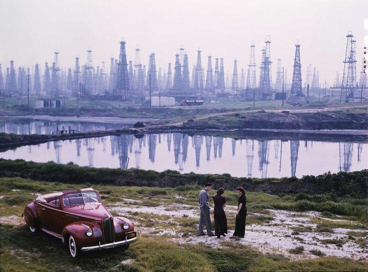 Oil Rigs on Signal Hill, California, 1941