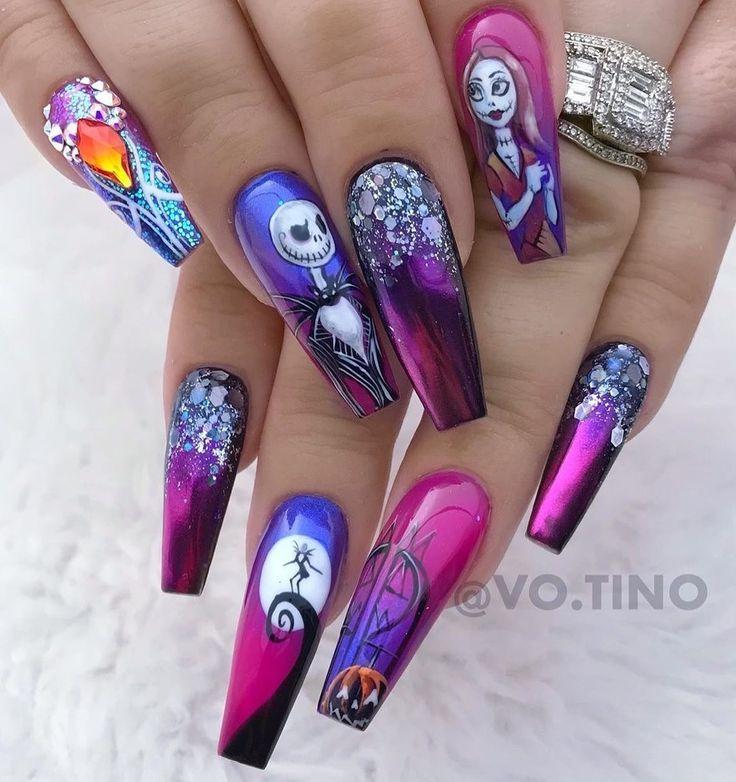 Pin by Jo Capper on Nail Inspo | Skull nails, Halloween ...