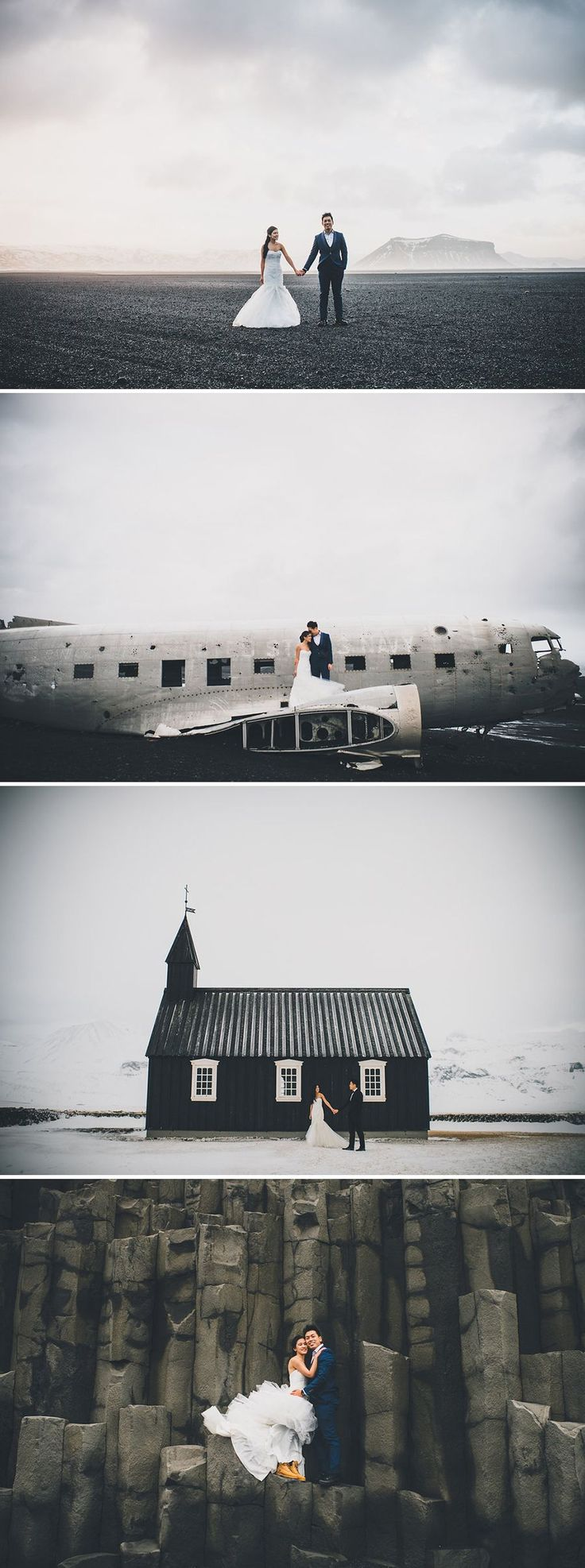 Best pre-wedding and engagement shoot locations in Iceland // Fearless: William and Velda Battle the Elements in Iceland