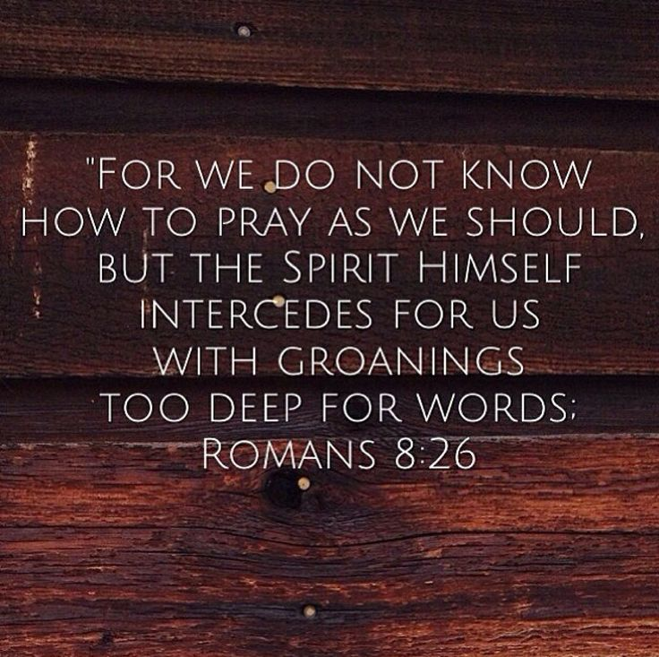 Likewise the Spirit helps us in our weakness. For we do not know ...