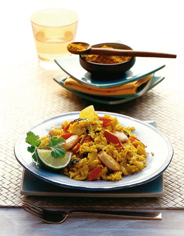 Rezept für Curryreis mit Hähnchenbrust bei Essen und Trinken. Ein Rezept für 4 Personen. Und weitere Rezepte in den Kategorien Geflügel, Gemüse, Kräuter, Milch + Milchprodukte, Reis, Hauptspeise, Braten, Dünsten, Kochen.