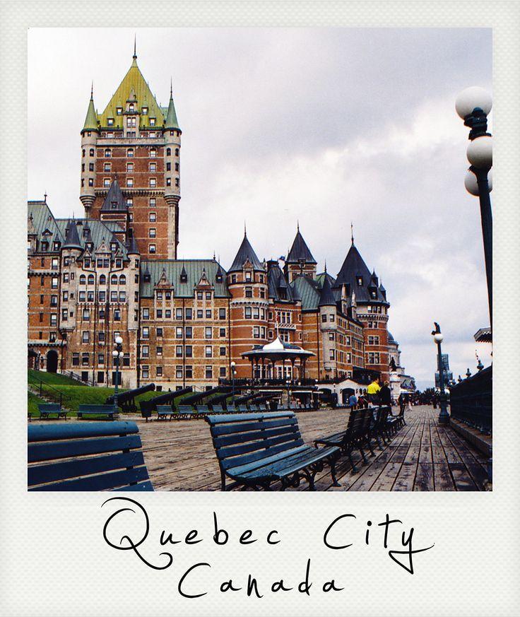 Polaroid, Quebec City, French Canada,  Château Frontenac