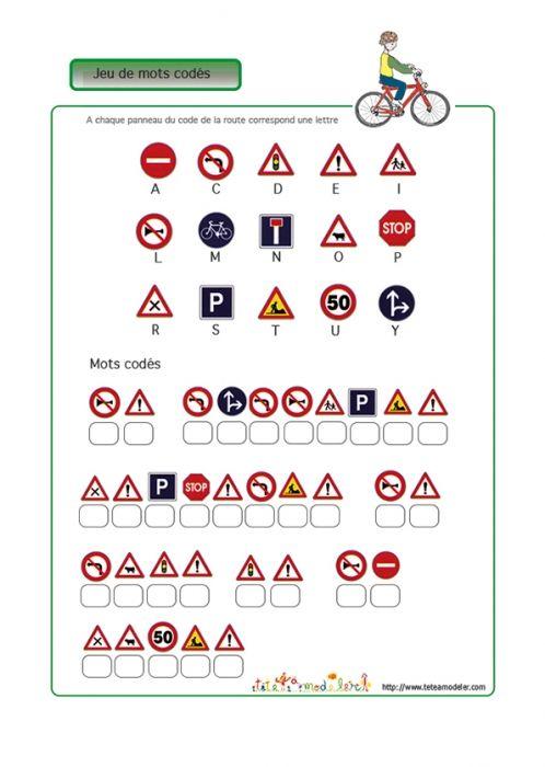 Jeu de mots codés : sécurité routière  2