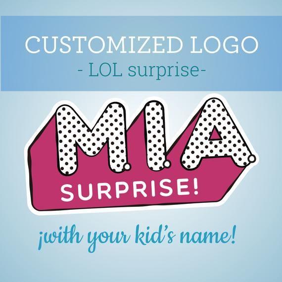 Customized Lol Surprise Logo Lol Surprise Party Lol