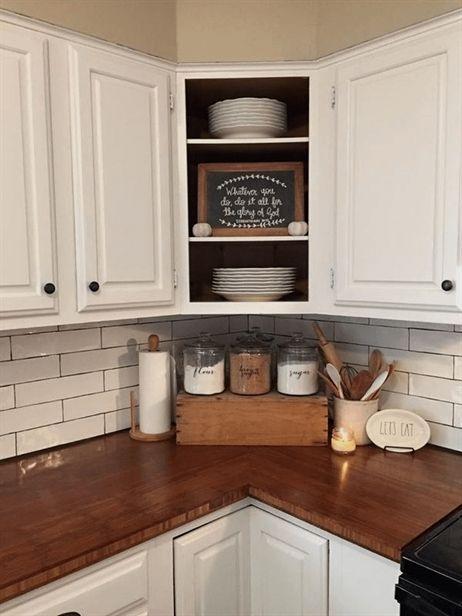 farmhouse kitchen countertops decor ideas #farmhousekitchencabinets