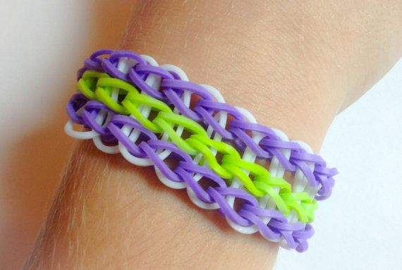 Buy 2 Get 1 FREE* - Rainbow Loom Triple Single Band Bracelet Purple ...