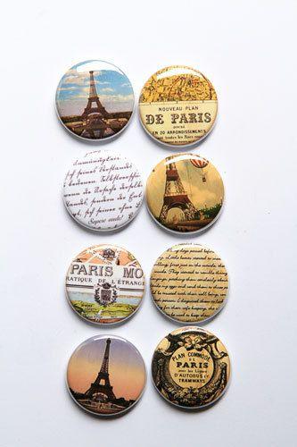 Me encanta el estilo de París por aflairforbuttons en Etsy