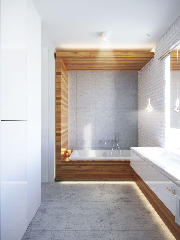 łazienka beton ,drewno+ ceramika